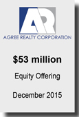 Agree Realty Corporation $53 million Equity Offering Dec2015
