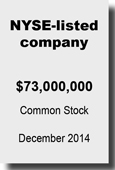 NYSE-listed company - Common Stock Dec 2014