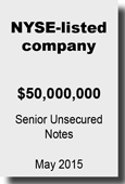 NYSE-listed company - Senior Unsecured May 2015