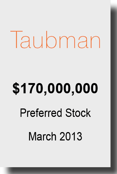 Taubman March 2013