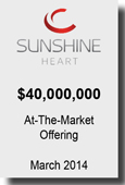 Sunshine Heart - $40,000,000 - At-The-Market Offering